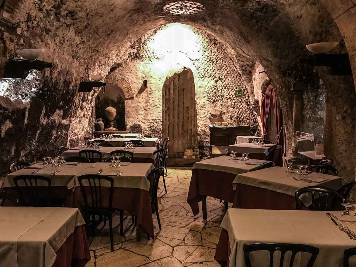 italy rome excavations pancrazio restaurant 2 pompeys theater