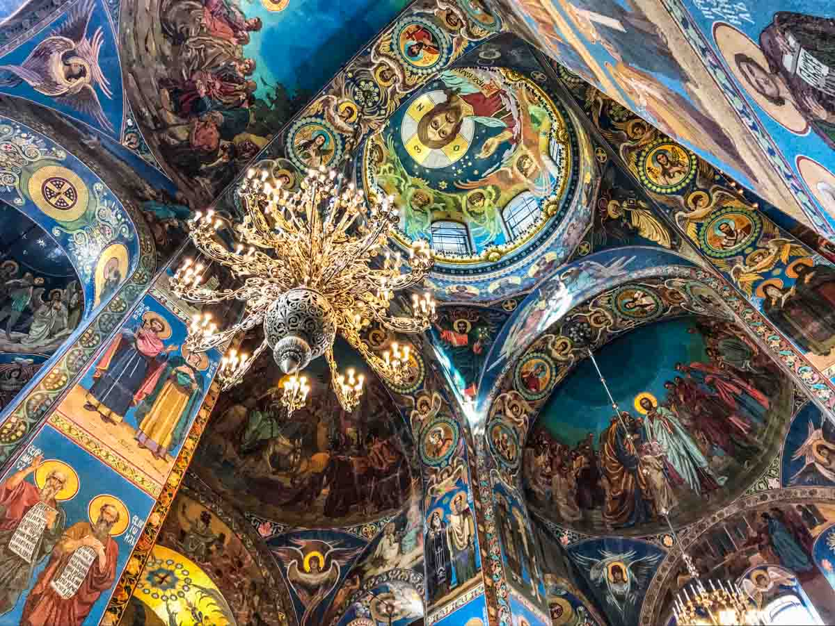 russia Saint Petersburg Church of the Savior on the Spilled Blood