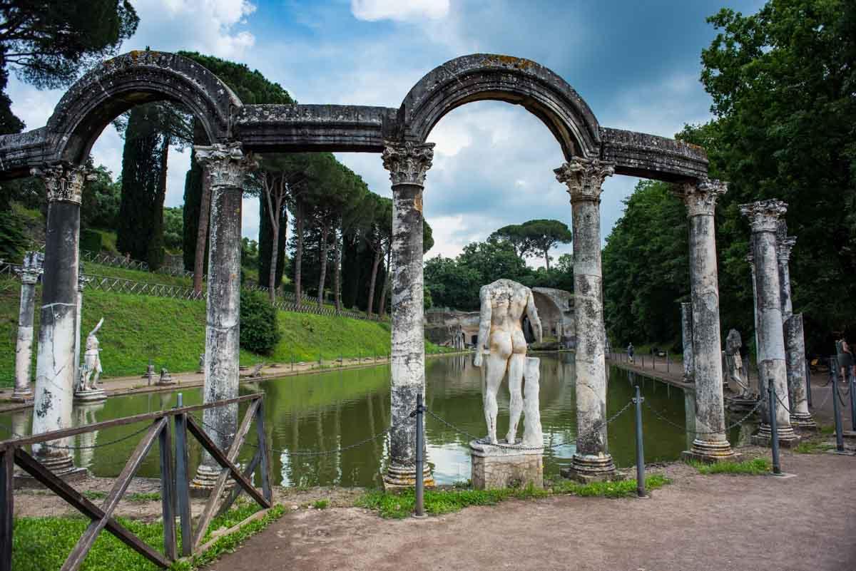 Italy Tivoli Hadrians villa day trip from rome canopus