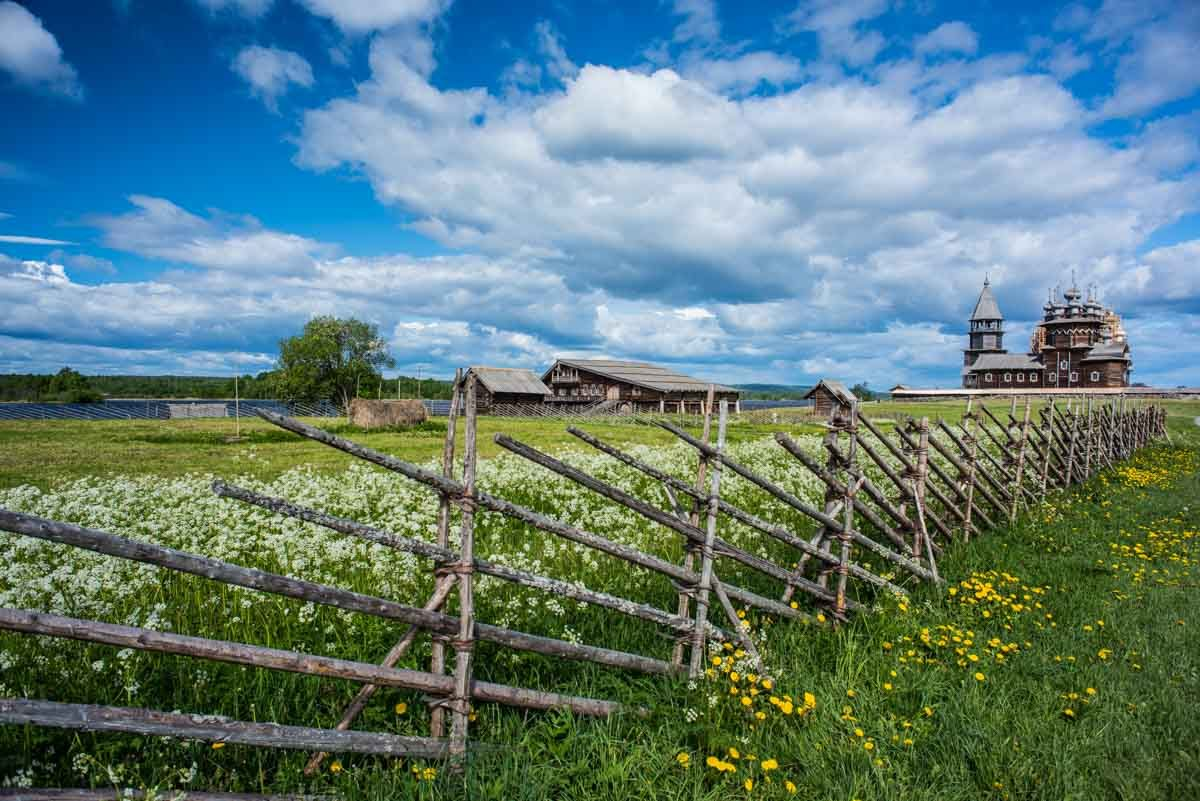 Russia kizhi island church fence