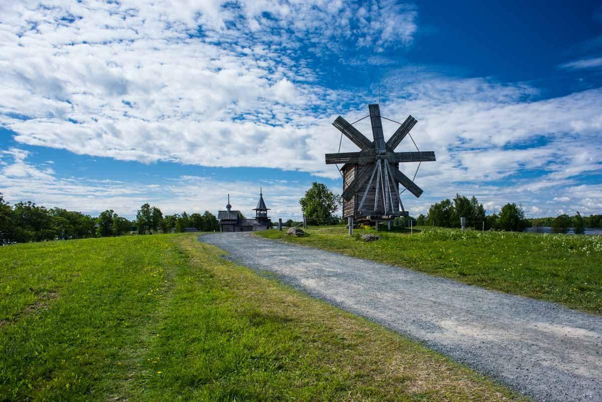 Russia kizhi island windmill