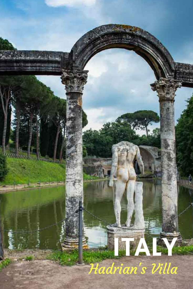 Hadrian's Villa in Tivoli is just a day trip from Rome. The Roman Emperor's expansive retreat was built in the pleasant hills outside the capitol. Pack a picnic. #Italy #Rome #DayTrips #TravelPast50 #seniortravel #travelphotography #TBIN #BoomerTravel #TraveltheWorld #UNESCO #WorldHeritageSite