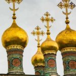 The Domes of Kremlin Square, Moscow; part of Viking's Russia River Cruise