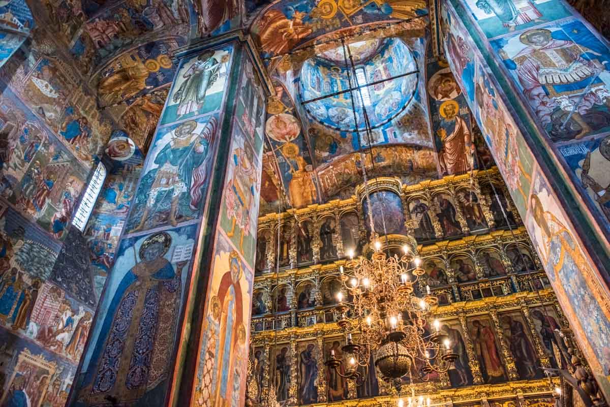russia yaroslavl Elijah the prophet church frescoes
