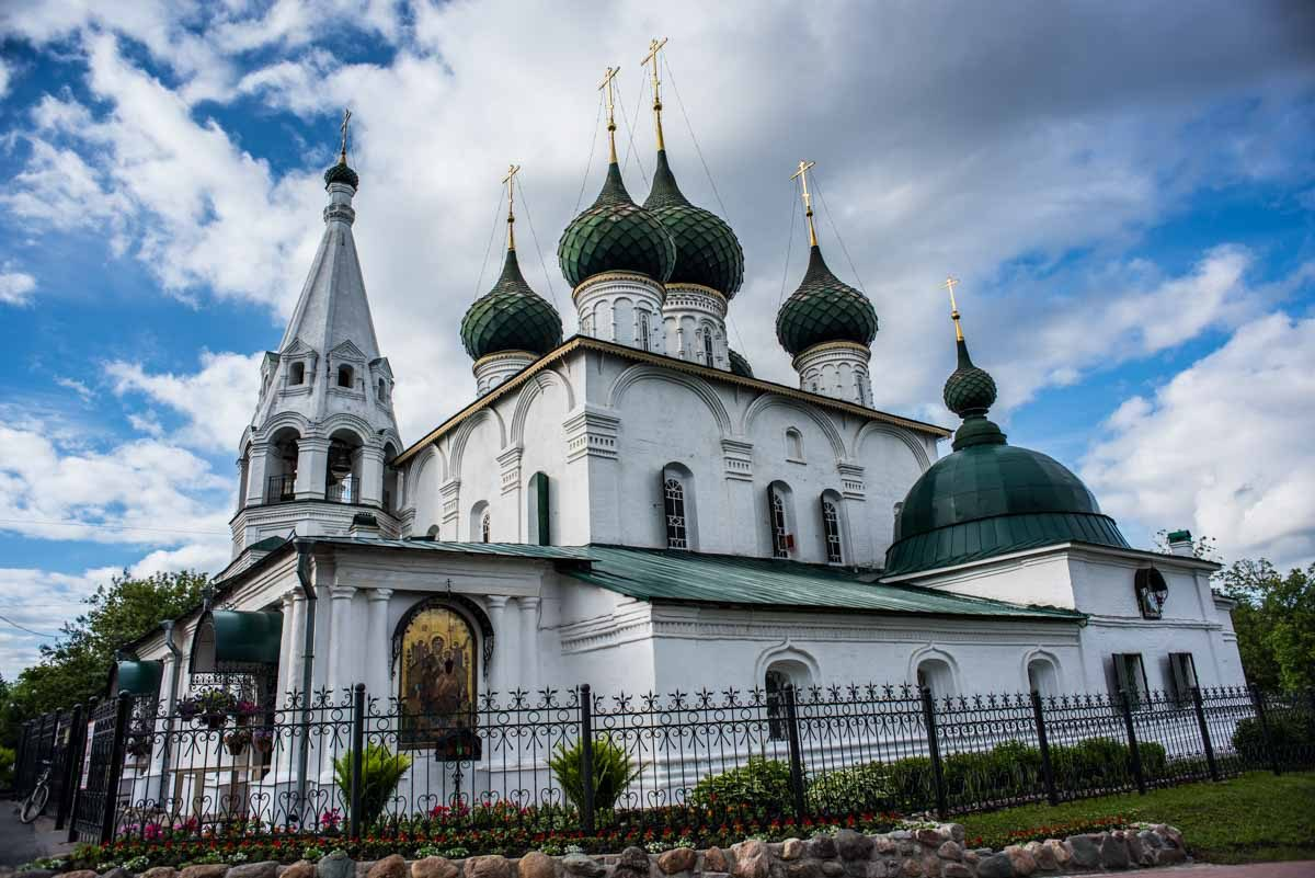 russia yaroslavl savior church on the city