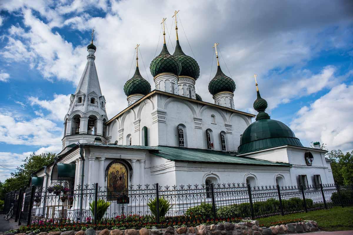 russia yaroslavl savior church on the city