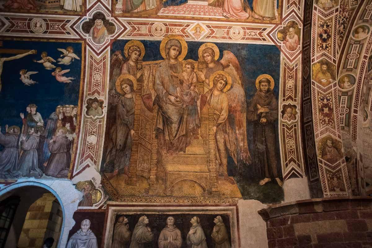 Assisi Lower basilica saint francis cimabue fresco