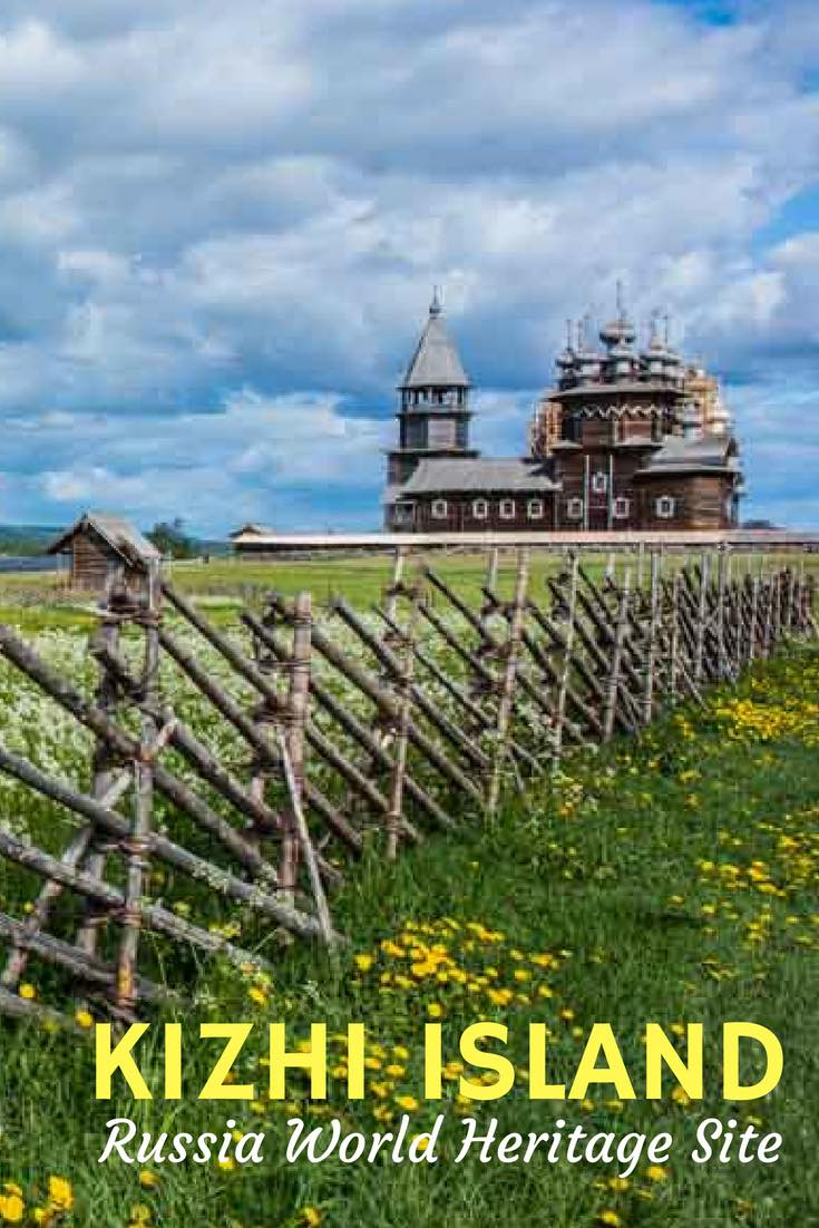 Kizhi Island on Lake Onega in Russia is a UNESCO World Heritage Site, remarkable for its 80 all-wooden structures and its testament to life in the far north–isolated on an island on a huge lake in the wilderness. See how you can visit. #Russia #TravelPast50 #seniortravel #travelphotography #TBIN #BoomerTravel #TraveltheWorld #historytravel #Europe #VikingRiver #UNESCO #WorldHeritageSite