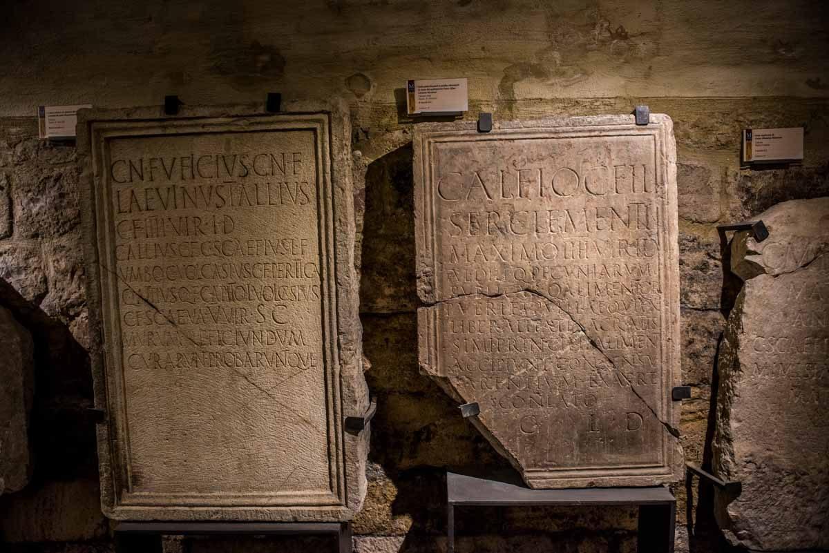 italy assisi roman forum museum headstones