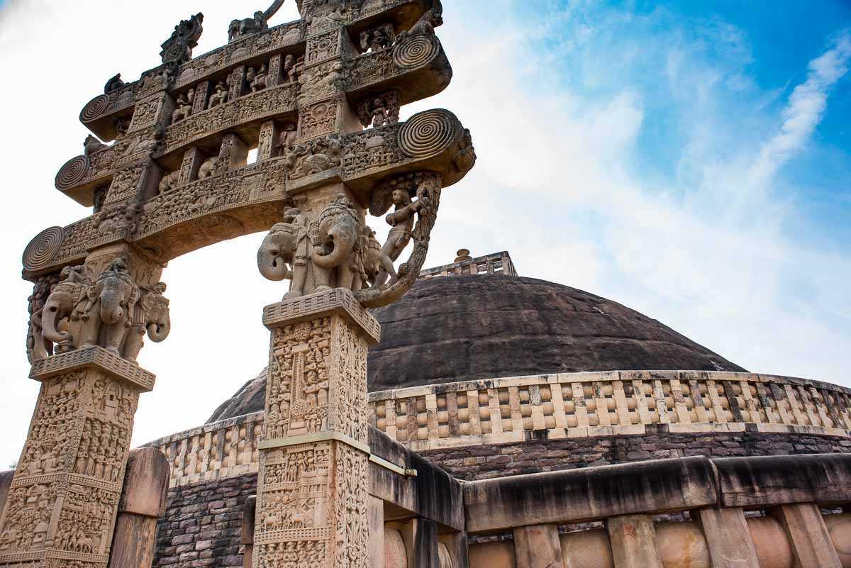 India sanchi arch stupa 1