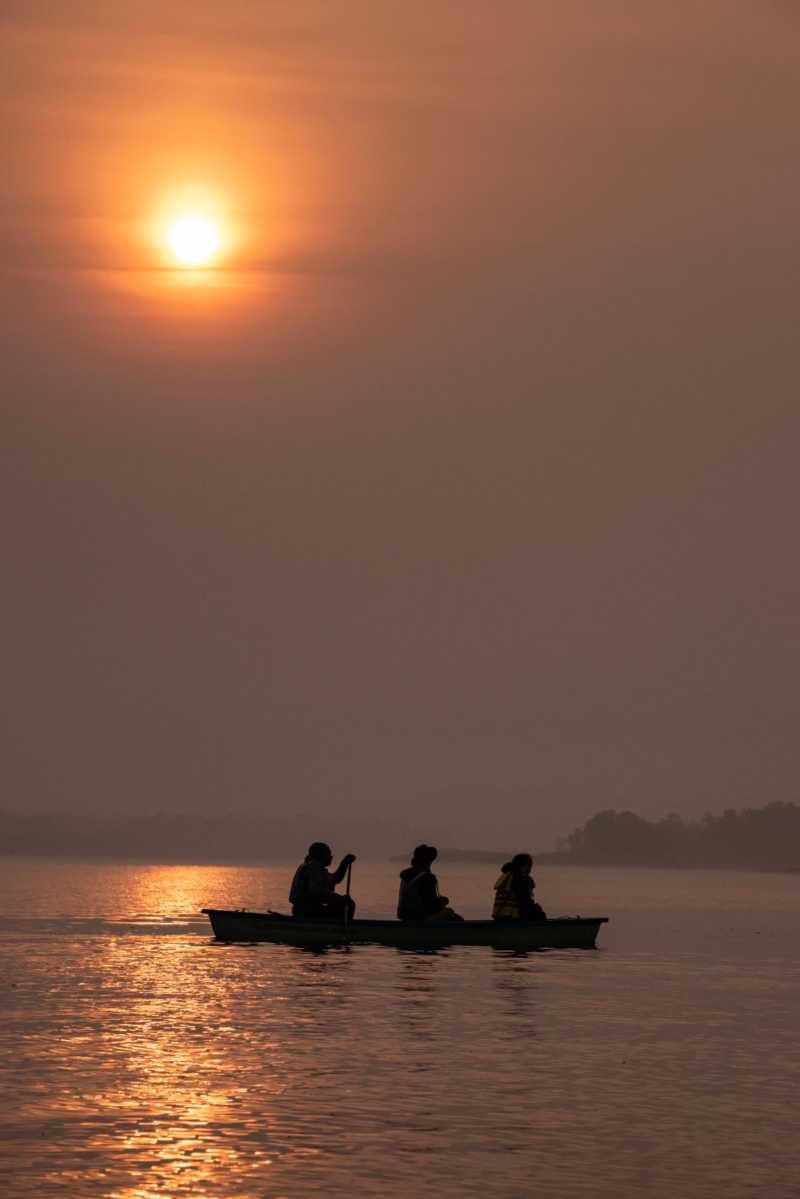 denwa river satpura national park india