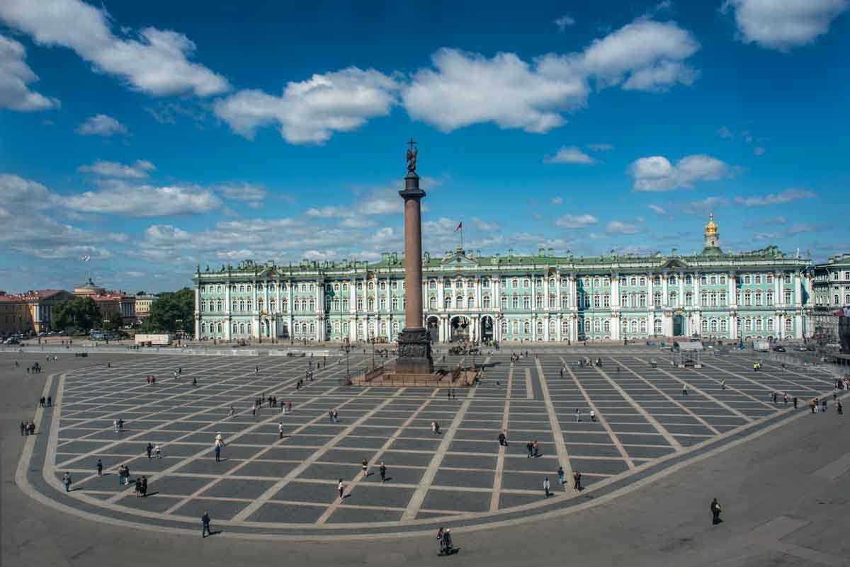 outside hermitage saint petersburg russia