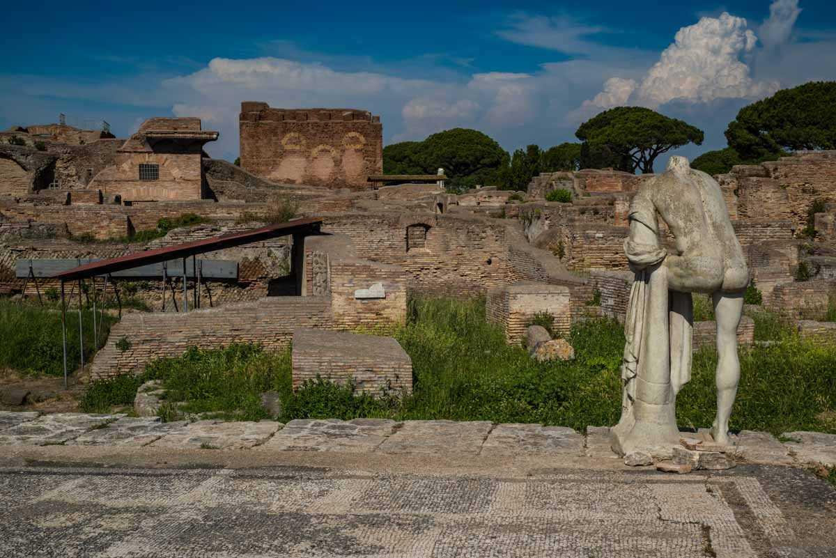 ruins of ostia antica italy