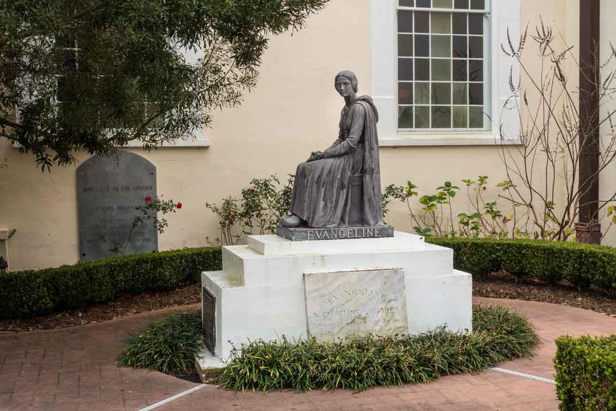 evangeline poem statue