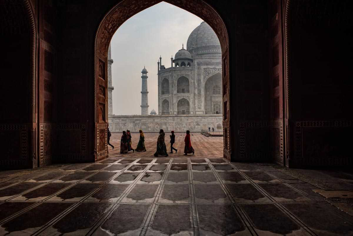 india taj mahal walkers framed