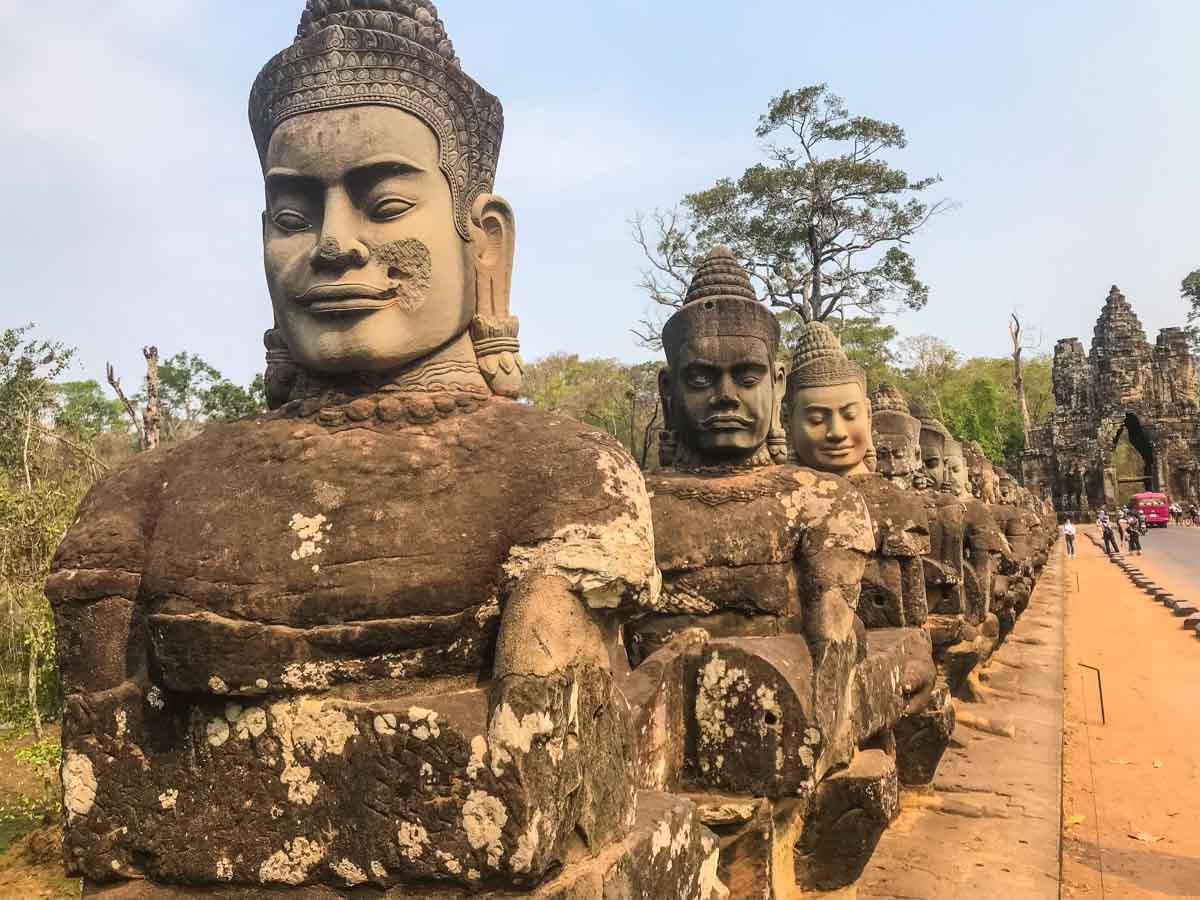 Moats and Bridges Angkor Wat Siem Reap Cambodia