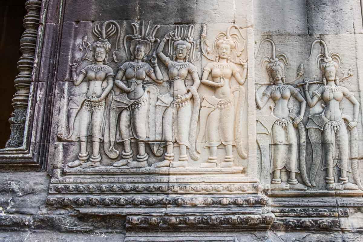 Angkor Wat Asparas Siem Reap Cambodia