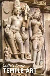 Erotic Art of Khajuraho Temple, India
