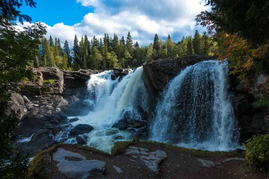 sweden st olav path rapids waterfall