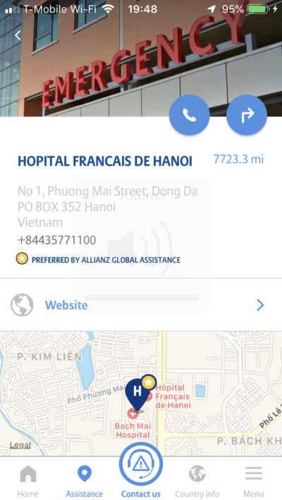 dog bite travel insurance medical center