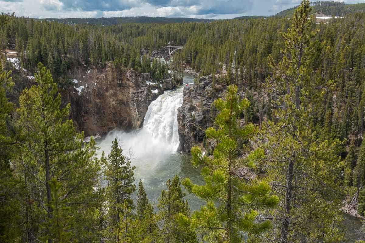 the falls yellowstone