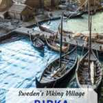 Viking village unesco site in Sweden