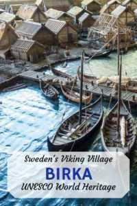 Viking village unesco site in Sweden