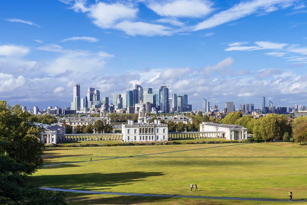 maritime greenwich london skyline