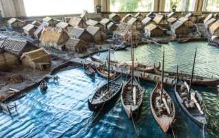 sweden birka museum model