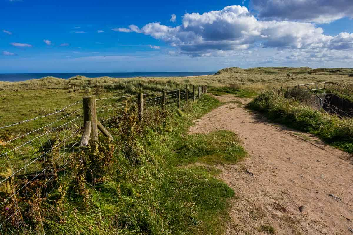 England path to the sea