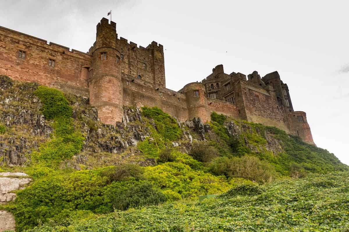 cycling england bamburgh castle
