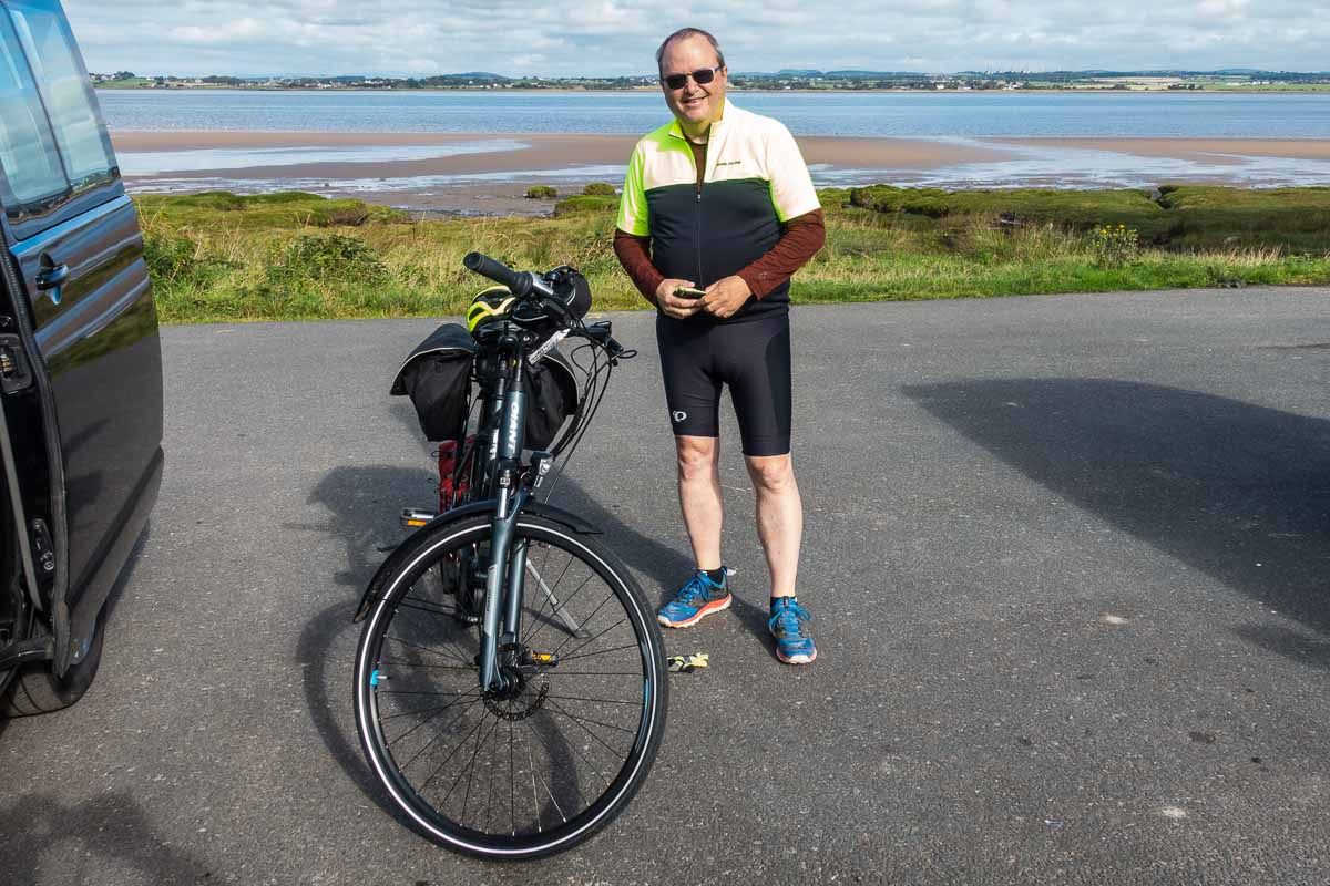 solo travel cycling england hadrians wall start