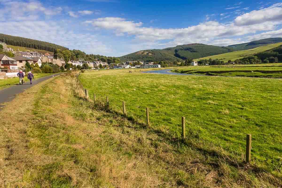cycling scotland river tweed