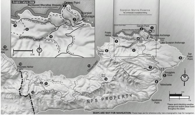 hiking map Santa Cruz