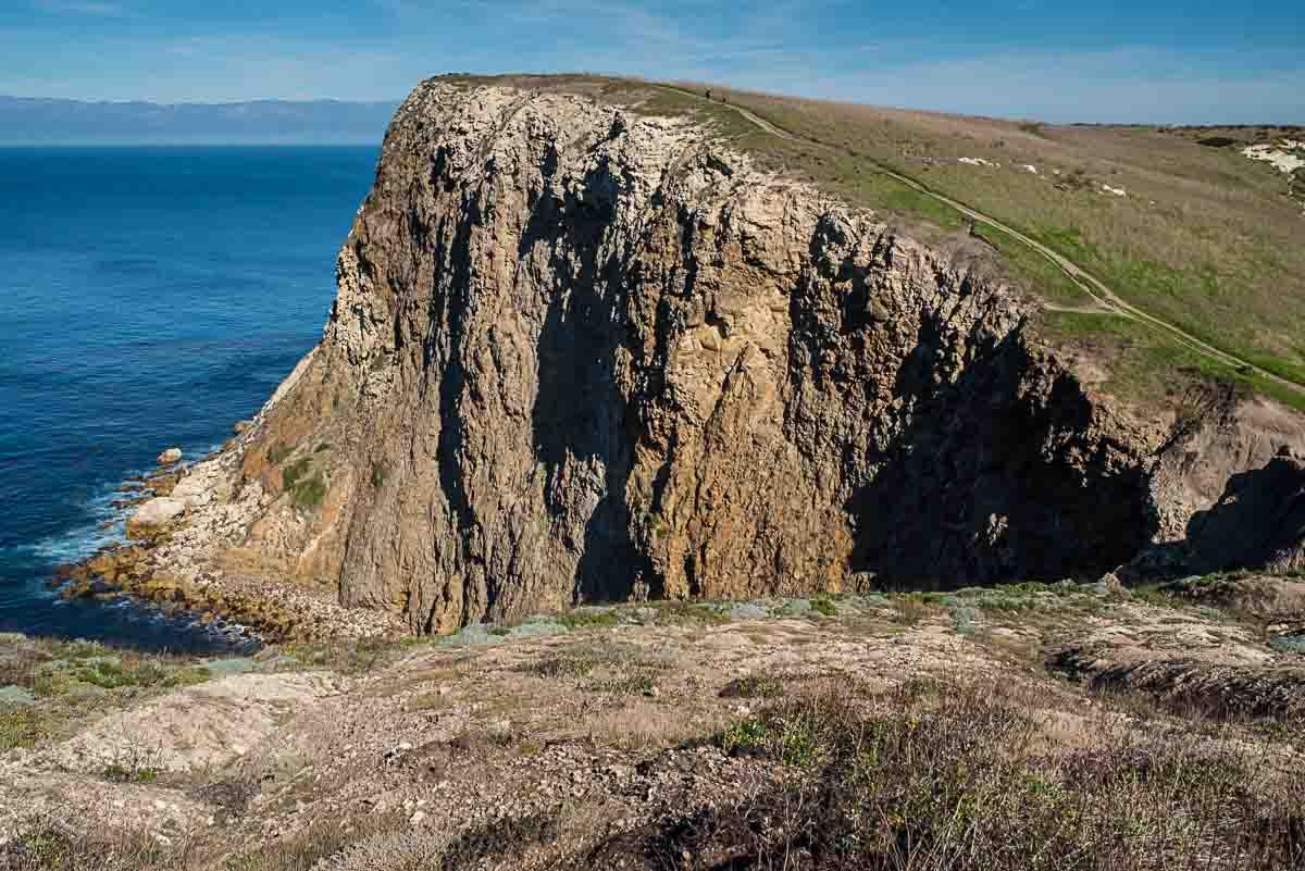 channel islands national park cliff shore