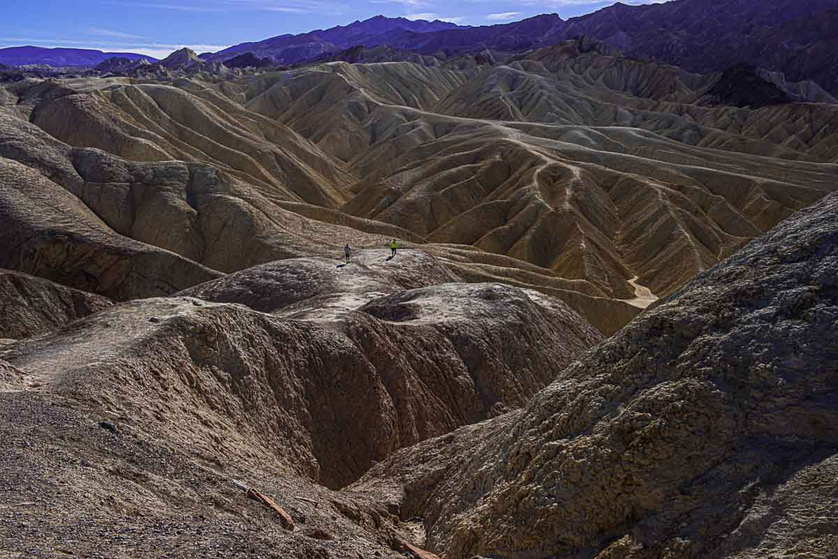 death valley national park zabriskie point hikers
