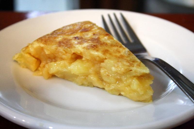 Spanish cuisine omelet