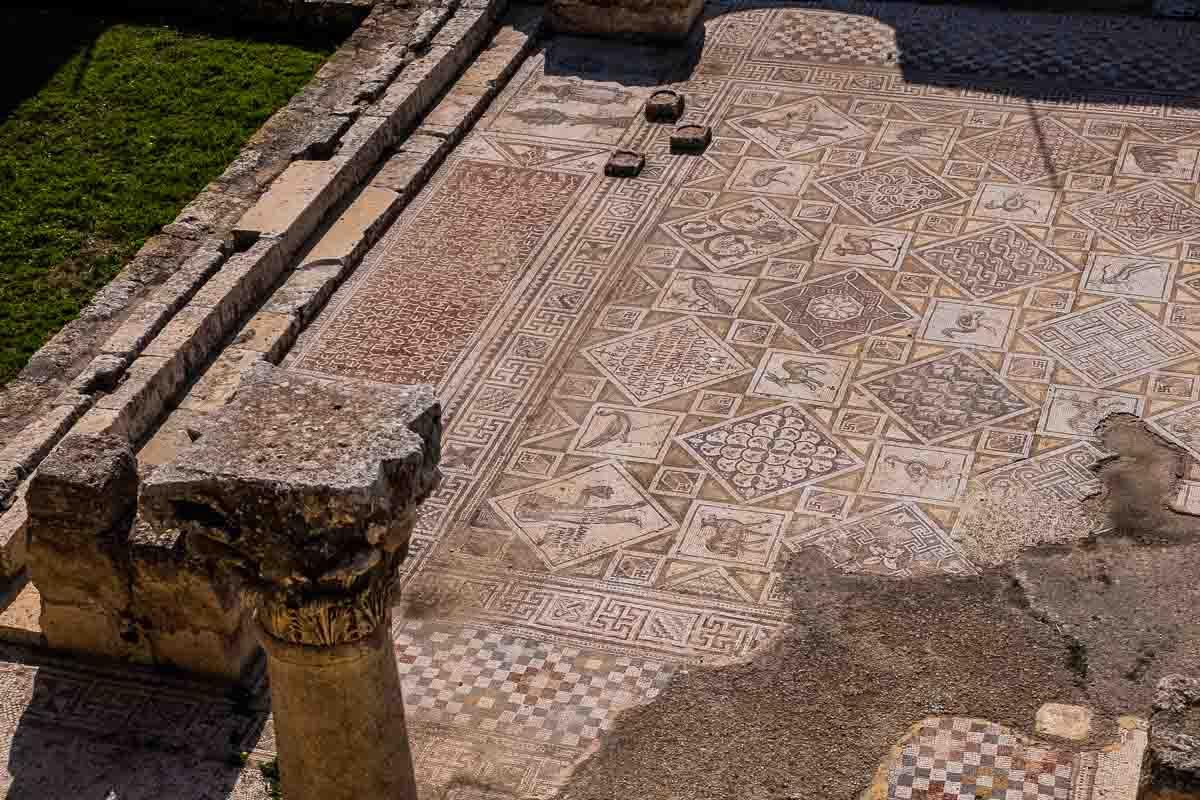 Jordan Jerash mosaic floor church cosmas damian
