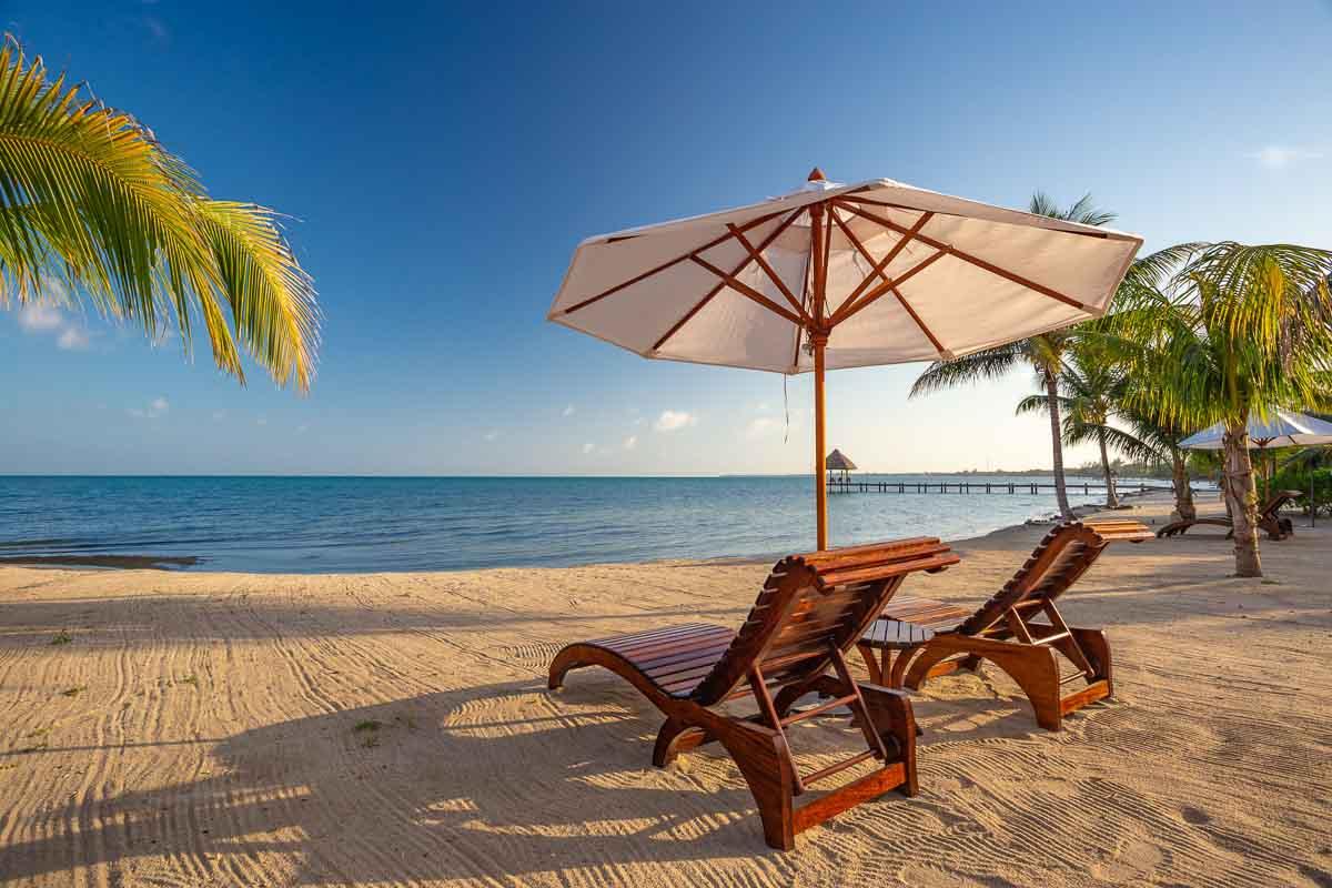 Beach view Belize Resort and Villas