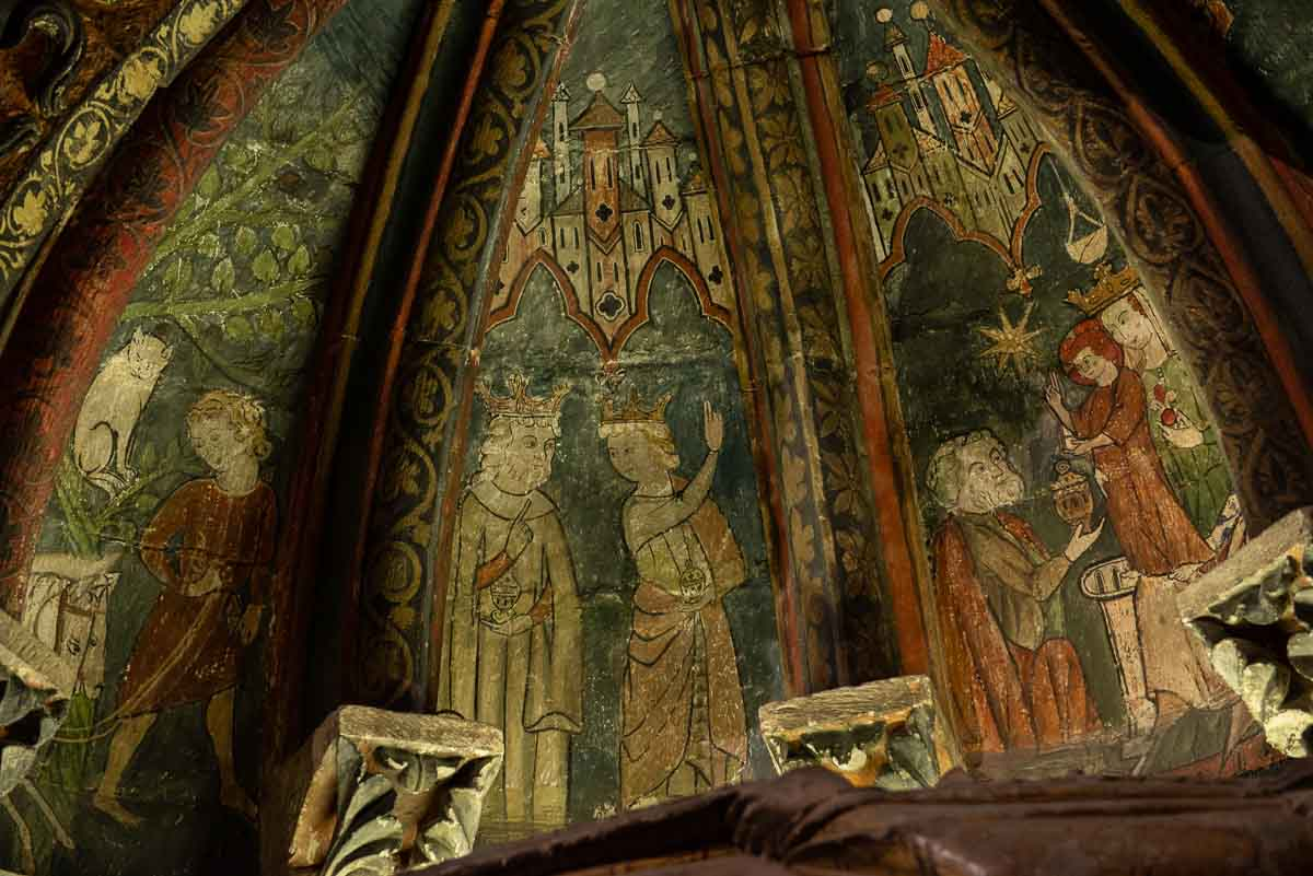old cathedral Salamanca frescoes